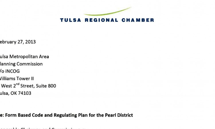 letter from the tulsa regional chamber to the tmapc