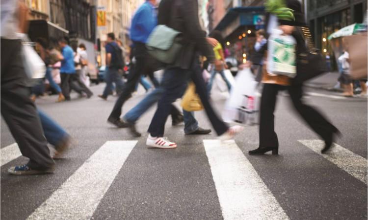 downtown walking